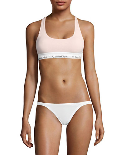 Calvin Klein Logo Underband Bralette-LIGHT PINK-Small