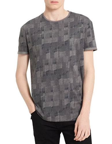Calvin Klein Jeans Patchwork Cotton Tee-GREY-Large