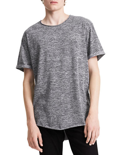 Calvin Klein Jeans Heathered Crewneck Tee-GREY-Large