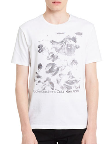 Calvin Klein Jeans Bright Floral Cotton T-Shirt-WHITE-Medium 89454110_WHITE_Medium