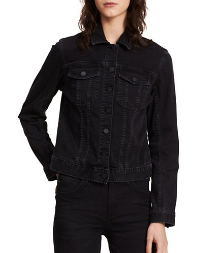 Calvin Klein Jeans Core Trucker Jacket-SHADOW BLACK-Medium