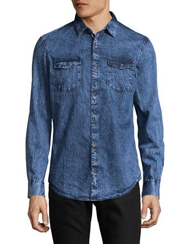 Calvin Klein Jeans Basic Denim Shirt-INDIGO-Medium