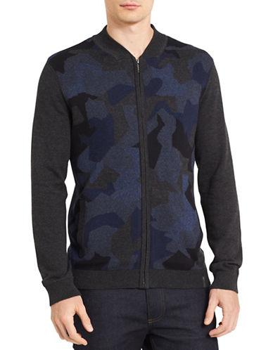 Calvin Klein Jeans Jacquard Cotton Sweater-BLUE-Large