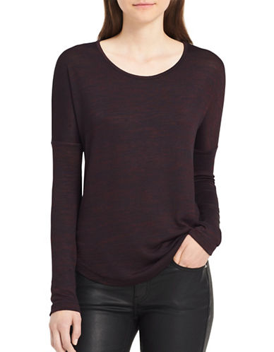 Calvin Klein Jeans Scoop-Neck Sweater-PLUM-Large