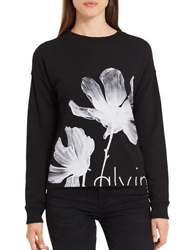 Calvin Klein Jeans Europe Floral Sweatshirt-BLACK-Small