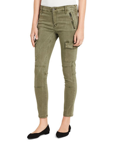 Calvin Klein Jeans Ankle Skinny Cargo Pants-GREEN-32