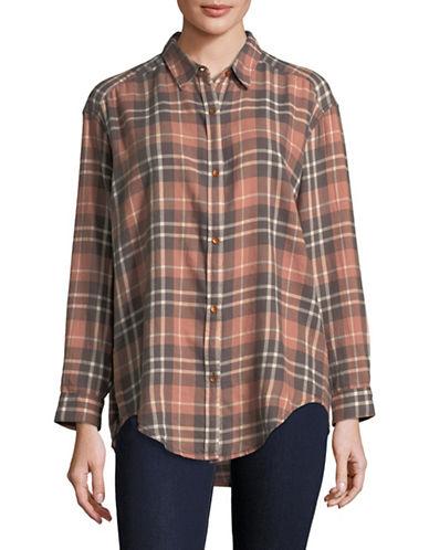 Calvin Klein Jeans Traditional Plaid Shirt-PEACH-Medium