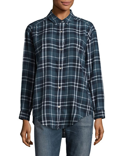 Calvin Klein Jeans Traditional Plaid Shirt-POPPY SEED-Large