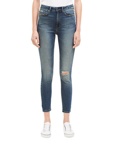 Calvin Klein Jeans High Rise Jeggings-PERIWINKLE-30