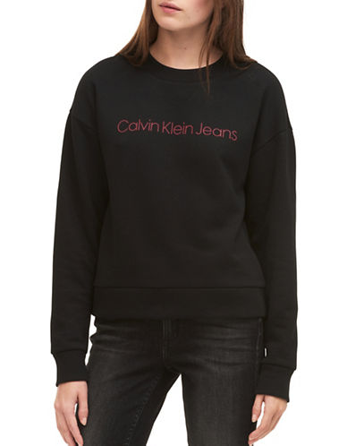 Calvin Klein Jeans Archive Luxe Sweatshirt-BLACK-Small