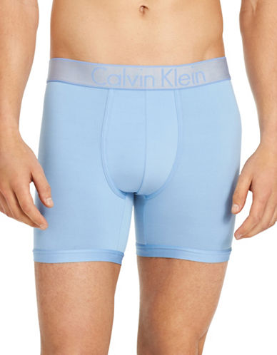 Calvin Klein Customized Stretch Boxer Briefs-BLUE-X-Large