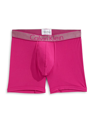 Calvin Klein Customized Stretch Boxer Briefs-PURPLE-Medium