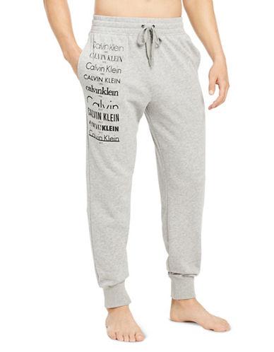 Calvin Klein Logo Jogger Pants-GREY-X-Large