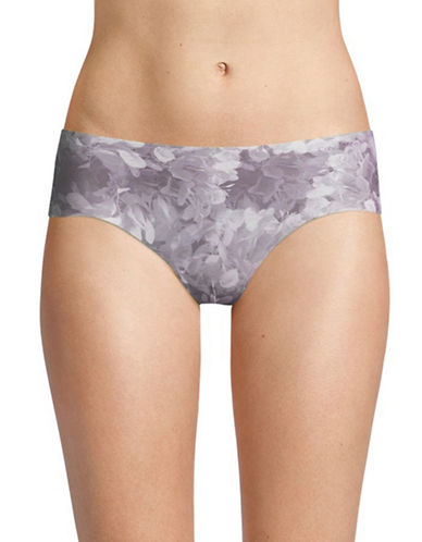Calvin Klein Spotted Invisible Hipster Panties-GREY SPOT-Small