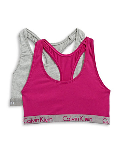 Calvin Klein Two-Pack Radiant Bralettes-GREY/PINK-Small