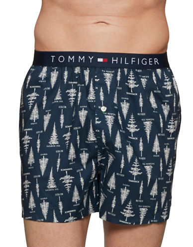 Tommy Hilfiger Mountainside Cotton Boxer Shorts-BLUE-X-Large 89648409_BLUE_X-Large
