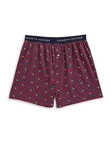 Tommy Hilfiger Printed Cotton Boxer Shorts-AIR FORCE-Medium