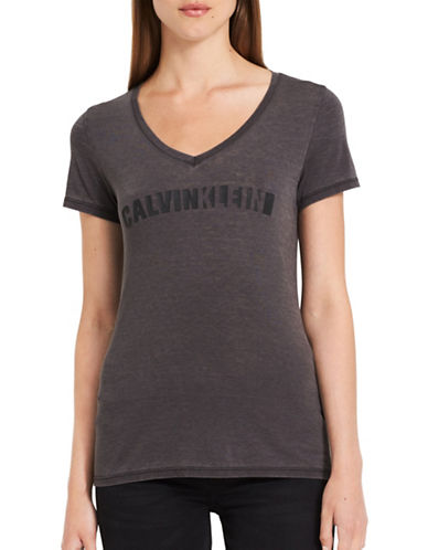 Calvin Klein Jeans Burnout Wash ID Logo Tee-BLACK-Small 89404957_BLACK_Small