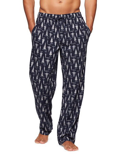 Tommy Hilfiger Cozy Fleece Pants-BLUE-Small