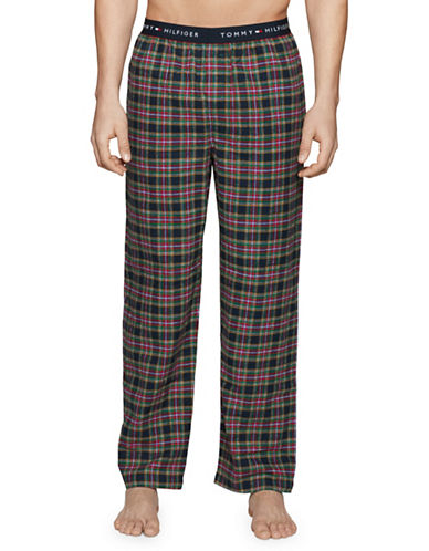 Tommy Hilfiger Plaid Flannel Pyjama Pants-MEDIUM BLUE-X-Large