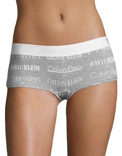 Calvin Klein Heritage Logo Boyshorts-GREY-Medium