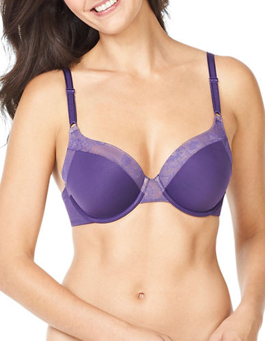 WarnerS Smooth FX Underwire Bra-DARK PURPLE-38C