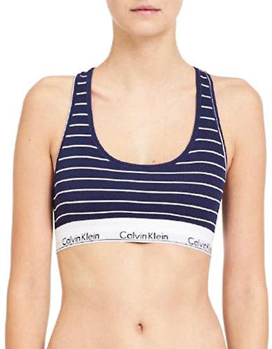 Calvin Klein Stripe Bralette-NAVY-Large