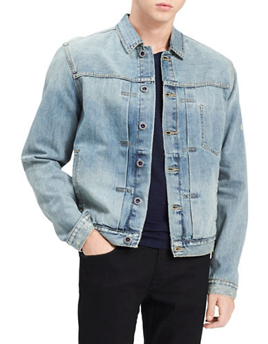 Calvin Klein Jeans Classic Denim Jacket-BLUE-Small