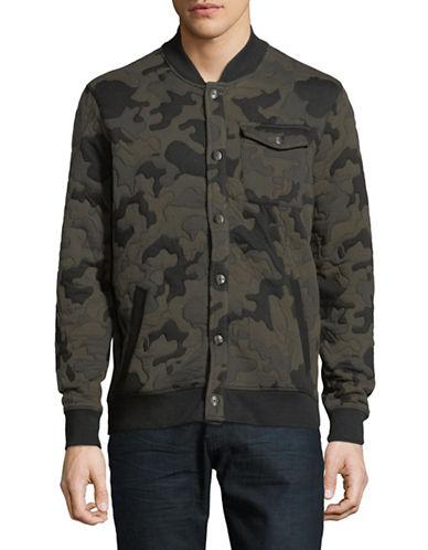 Calvin Klein Jeans Camouflage Baseball Jacket-BLACK-X-Large