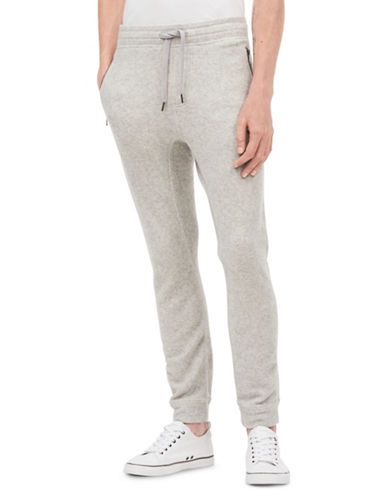 Calvin Klein Jeans Brushed Heathered Sweatpants-SILVER-Large