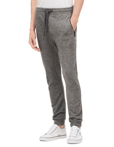 Calvin Klein Jeans Brushed Heathered Sweatpants-GREY-Large 89696140_GREY_Large