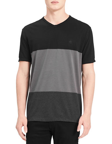 Calvin Klein Jeans Colourblock Cotton Tee-GREY-Medium