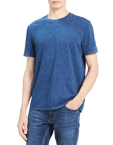 Calvin Klein Jeans Crew Neck Cotton Tee-INDIGO BLUE-Small