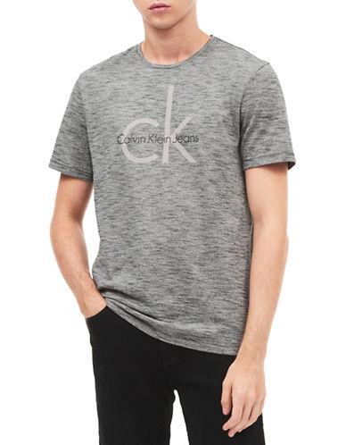 Calvin Klein Jeans Logo Cotton Tee-GREY-X-Large
