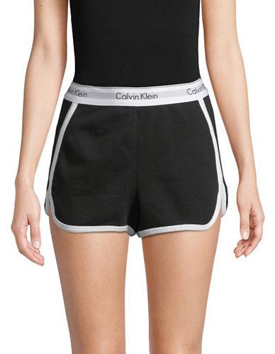 Calvin Klein High-Waist French Terry Sleep Shorts-BLACK-Large 89989514_BLACK_Large