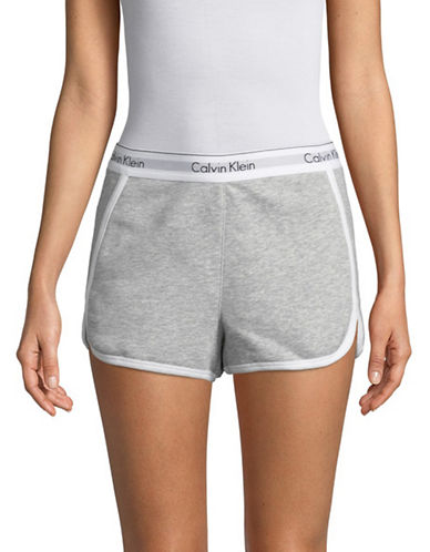 Calvin Klein High-Waist French Terry Sleep Shorts-GREY-Medium 89989516_GREY_Medium