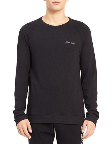 Calvin Klein Heritage Body Cotton Sweatshirt-BLACK-Medium