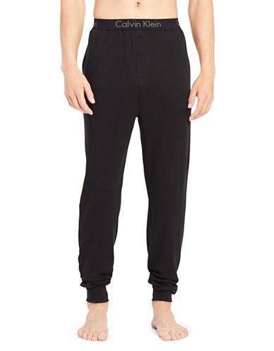 Calvin Klein Heritage Cotton Jogger Pants-BLACK-Large 89938318_BLACK_Large