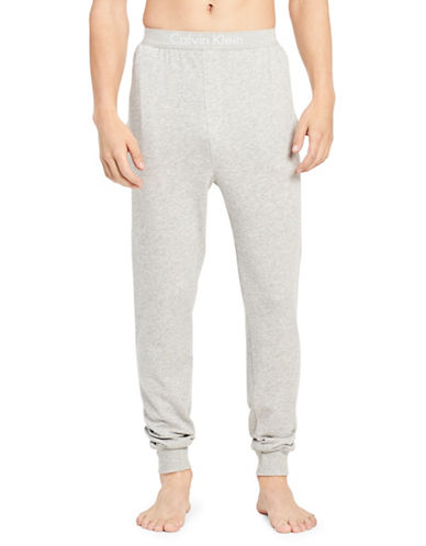 Calvin Klein Heritage Cotton Jogger Pants-GREY-Small 89938319_GREY_Small