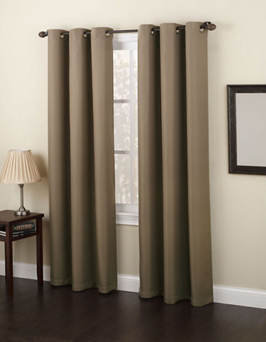 Home Studio Monterey 63-Inch Curtain Panel-BEIGE-63 inches