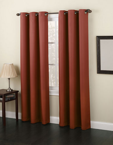 Home Studio Monterey 63-Inch Curtain Panel-PAPRIKA-63 inches
