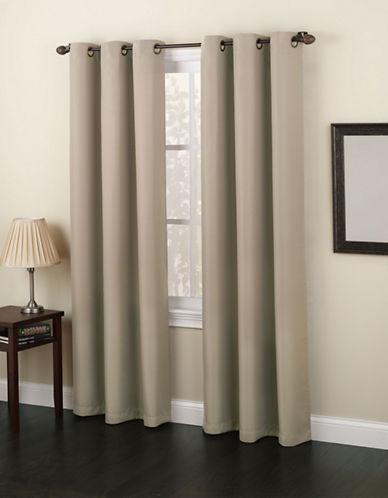 Home Studio Monterey 63-Inch Curtain Panel-LIGHT BEIGE-63 inches