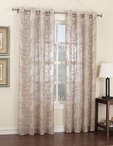 Home Studio Nora Embroidered Linen 84in Look Drape-PAISLEY-84 inches