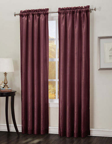 Home Studio Cypress Interlined Curtain Panel-RED-One Size