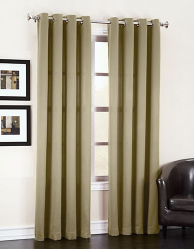 Home Studio Madison Room Darkening Curtain Panel-BEIGE-84 inches