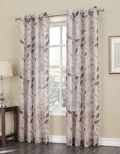 Home Outfitters Crushed Voile Curtain Panel-BEIGE-84 inches