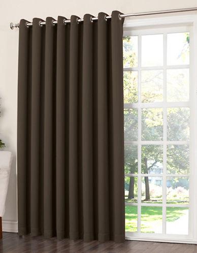 Home Studio Madison 100 Inch Grommet Top Room Darkening Panel-BROWN-One Size