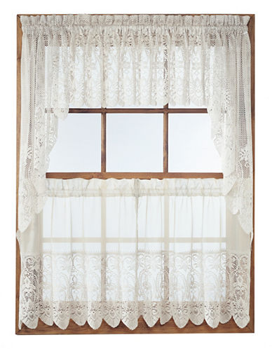 Home Studio Joy Three-Piece Valance and Tier Set