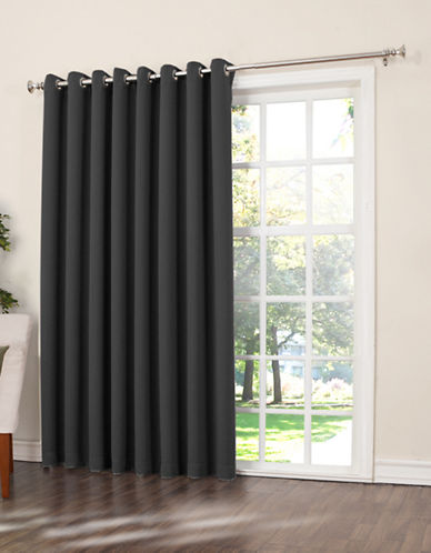 Home Studio Gramercy Room-Darkening Patio Panel-BLACK-84 inches