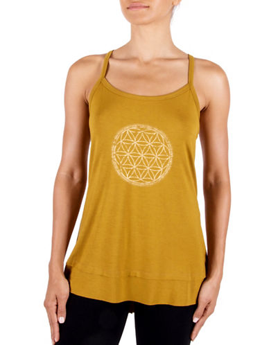Gaiam Sienna Overlapping Circles Screen Print Tank Top-BRONZE-Large